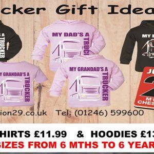 """ My Dad or My Grandad's a Trucker "" Kids T-Shirts & Hoodies"